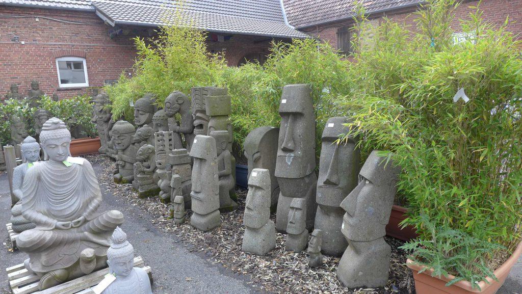 Moai Tiki Skulpturen